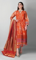 Unstitched Embroidered 3 Piece