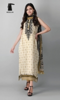 Shirt Length: 3.25 meters Dupatta Length: 2.5 meters Bottom Length: 2.5 meters Color Family: Neutral Add on: Embroidered Patti