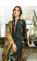 Shirt: Printed Lawn Dupatta : Printed Chiffon Trouser: Dyed Embroidery: -Embroidered Gala on Shirt