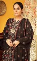 Shirt: - Embroidered and Chikankari Karandi Dupatta: - Embroidered Chiffon Trouser: - Dyed