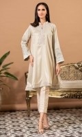 Golden weave jacquard fabric with delicate embroidery with mock sheesha work and light pink pipings and gota details.