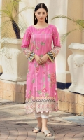 Digital print lawn shirt in a lovely pink.