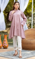 Flared 3 panel mid length tunic in a custom made dobby jacquard cotton in a warm teapink color is the perfect choice for that relaxed urban look.