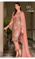 Embroidered Chiffon Shirt Embroidered Chiffon Dupatta Plain Trouser