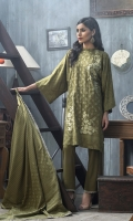 Shirt: Front: Embroidered/Printed1.25 Meters Shirt: Back: Printed 1.25 Meters Dupatta: Printed2.5 Meters Sleeves: Printed1 Pair Trouser: Dyed2.5 Meters Weight: 1.3 kg