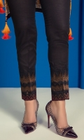 2.5 meter cambric pants Embroidered tissue border