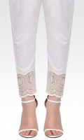 Straight pants with embroidery on organza.