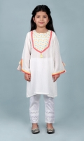 White Broche Girl Tunic