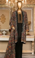 Lawn Printed Shirt 3m. Embroidered Neck. Lawn Printed Dupatta 2.5m. Dyed Trouser 2.5m.