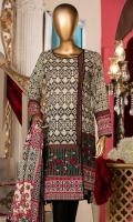 Lawn Printed Shirt 3m. Embroidered Border. Embroidered Lace. Lawn Printed Dupatta 2.5m. Dyed Trouser 2.5m.