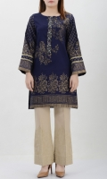 Jacquard shirt with embellished placket Placket decorated with pearls, crystals and dapka