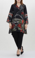 Khaddar shirt with floral print Full sleeves