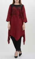 Embroidered Cutline Shirt Shirt with embellished front Full sleeves