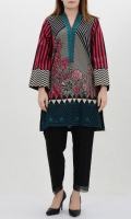 Printed shirt with embroidered neck Full sleeves