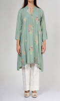 Embroidered shirt with ban neck Full bell sleeves