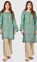 Shirt with embroidered front Placket embellished with stones Full sleeves with embroidered cuffs