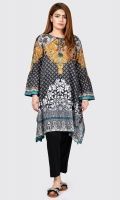 Printed shirt with tassels on neck Full sleeves with bell sleeves