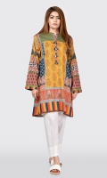 Printed shirt with tassels and crystals on placket Full sleeves