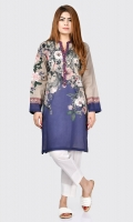Printed shirt with buttons on placket Full sleeves with embroidery