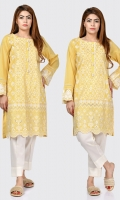 Shirt with embroidered front Placket finished with pearl buttons Full sleeves with embroidered cuffs
