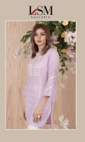 Dobby embroidered kurta along with straight sleeves.