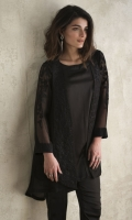 CHIFFON EMBROIDERED FASHION JACKET EMBROIDERED SLEEVES EMBELLISHED WITH BEADS