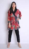 EMBROIDERED COAT COLLOR FORCK WITH STRAIGHT HEIM AND STRAIGHT SLEEVES GATHERED SLEEVES