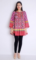 FRONT BACK PRINTED FULL LENGTH STRAIGHT EMBROIDERED SLEEVES BOAT NECK FROCK STYLE