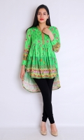 FRONT BACK PRINTED FULL LENGTH STRAIGHT EMBROIDERED SLEEVES CHINESE V-NECK ROUND HEIM