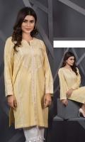 Straight embroidered kurta Round neck with patti Straight sleeves
