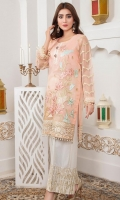 Thread embroidery with tilla Embellish with hand work Of Dabka And stones, pearls