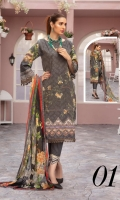 Chikankari Lawn Shirt Crinkle Chiffon Dupatta Plain Trouser