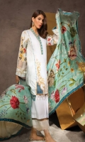 Shirt Front: Dyed Lawn Shirt Back: Digital Printed Lawn Dupatta: Digital Printed Silk Sleeves: Digital Printed Lawn Trouser: Dyed EMBROIDERY 1.Embroidered Panel for Front
