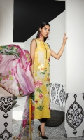 Shirt: Digital Printed Lawn Dupatta:Digital Printed Silk Sleeves: Digital Printed Lawn Trouser: Dyed EMBROIDERY 1. Embroidered Bunches For Shirt/Trouser