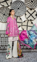 Shirt: Digital Printed Lawn Dupatta: Digital Printed Silk Sleeves: Digital Printed Lawn Trouser: Dyed EMBROIDERY 1. Embroidered Border For Sleeves/Trouser