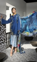 Shirt: Dyed Lawn Dupatta:Digital Printed Silk Sleeves:Dyed Lawn  Trouser: Digital Prinrted EMBROIDERY 1. Full Front Embroidered For Shirt 2. Embroidered Bunches For Shirt