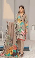 Embroidered Chikenkari Pashmina Wool Shawl Plain Trouser