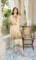 Embroidered Lawn With Chikankari Chiffon Dupatta Plain Trouser