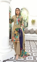 Lawn Shirt With Twist Embroidered Lawn Dupata Plain Trouser