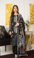 Shirt: Digital Printed Lawn Dupatta: Digital Printed Net Trouser: Dyed Cotton  Embroidery:  1- Embroidered Front