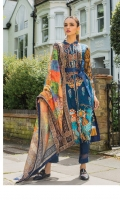 Shirt: Printed Lawn Dupatta: Digtial Printed Net Trouser: Dyed Embroidery: Front Embroidered Shirt