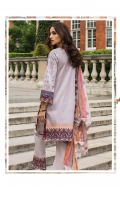 Shirt:  Printed Lawn  Dupatta:  Printed Chiffon  Trouser: Dyed  Embroidery:  Front Embroidered Shirt  Embroidered Neck Patti