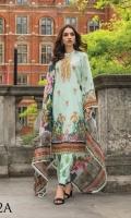 Shirt:  Digital Printed Lawn Dupatta: Digital Printed Silk Trouser: Dyed Embroidery: Front Embroidered Shirt Embroidered Trouser