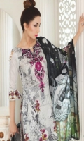 Shirt: Printed Lawn Dupatta: Digital Printed P. Silk Trouser: Dyed Embroidery: 1. Embroidered Gala