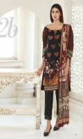 Shirt: Printed Lawn Dupatta: Printed Lawn Trouser: Dyed Embroidery: 1. Embroidered Front