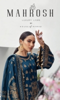 Embroidered Lawn Front Embroidered Lawn Back Embroidered Lawn Sleeves Lawn Jamawar Banarsi Dupata Dyed Cambric Lawn Trouser