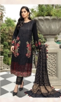 Embroidered Lawn Front Embroidered Lawn Back Embroidered Lawn Sleeves Lawn Jamawar Banarsi Dupata Embroidered Front & Back Border Dyed Cambric Lawn Trouser