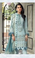 Embroidered Lawn Front Embroidered Lawn Back Embroidered Lawn Sleeves Lawn Jamawar Contrast Banarsi Dupata Embroidered Trouser Patch Dyed Camric Lawn Trouser