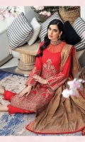 Embroidered Lawn Front Embroidered Lawn Back Embroidered Lawn Sleeves Lawn Jamawar Contrast Banarsi Dupata Embroidered Gala Patch Dyed Cambric Lawn Trouser