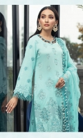 Embroidered Lawn Front Embroidered Lawn Back Embroidered Lawn Sleeves Embroidered Chiffon Dupata Dyed Cambric Lawn Trouser